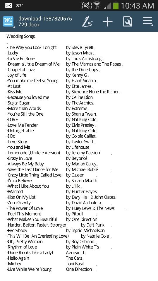 Romantic music list