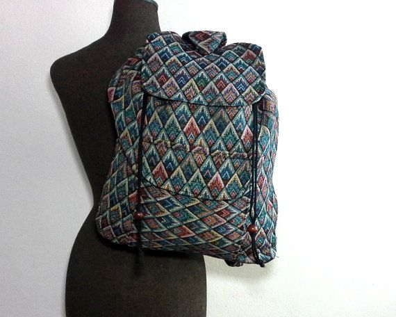 Mens Womens Hippie backpack Ethnic Tribal Backpack by Tribalover