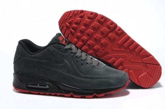 best authentic d47fd 90094 Nike Air Max 90 VT Homme Premium Anthracite Rouge vente pas cher en www.