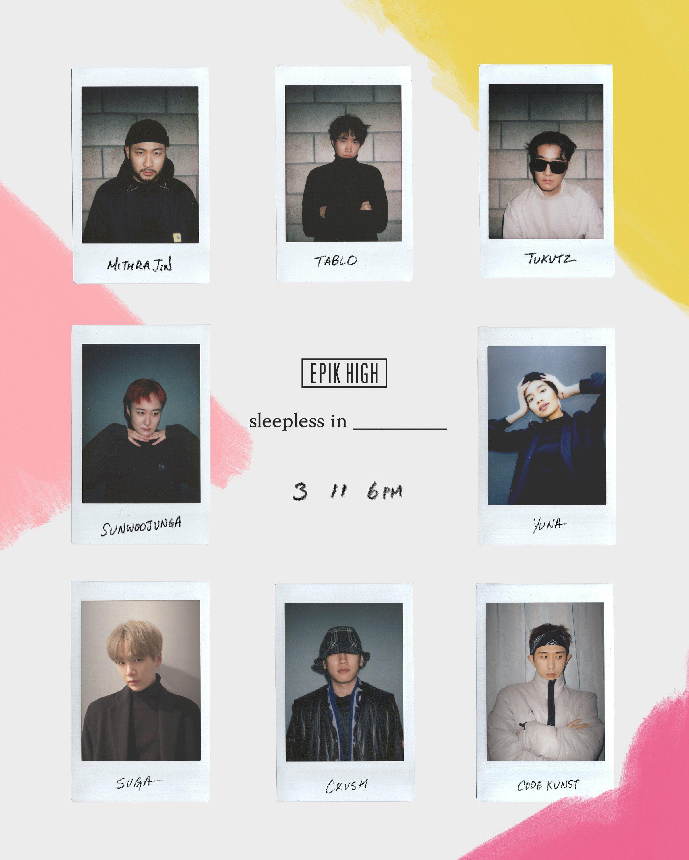 190227 @blobyblo • 에픽하이의 새 앨범: sleepless in __________ 참여진 ...