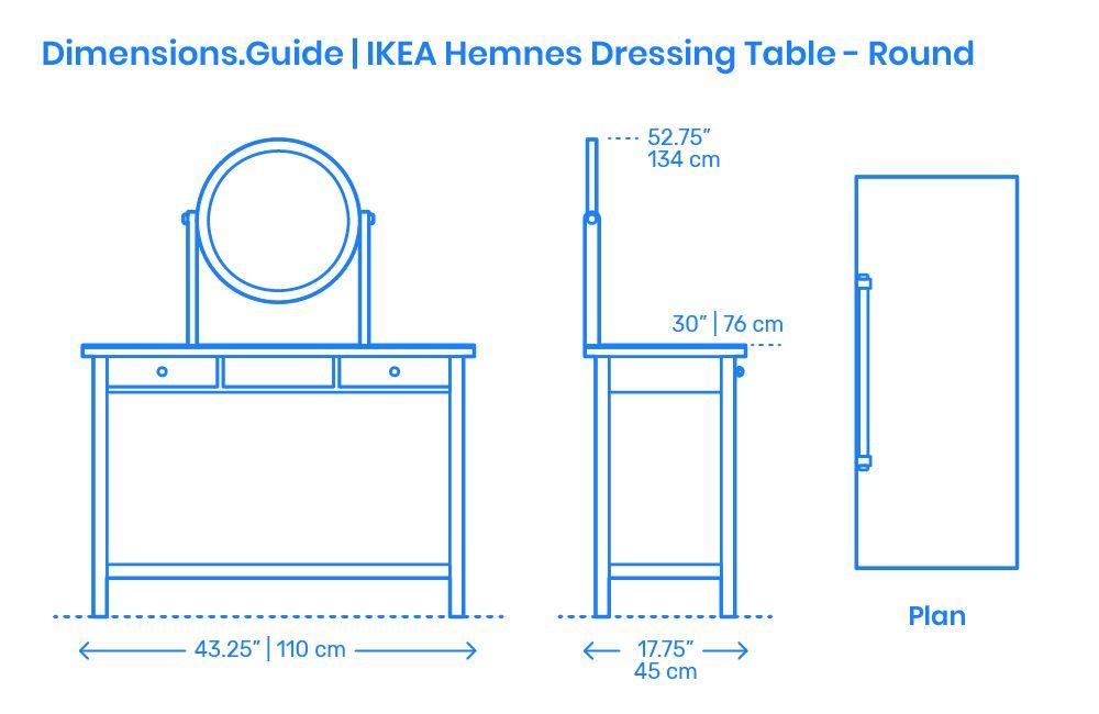 Ikea Hemnes Dressing Table Round Mirror Drawing Furniture Furniture Design Sketches Design Basics