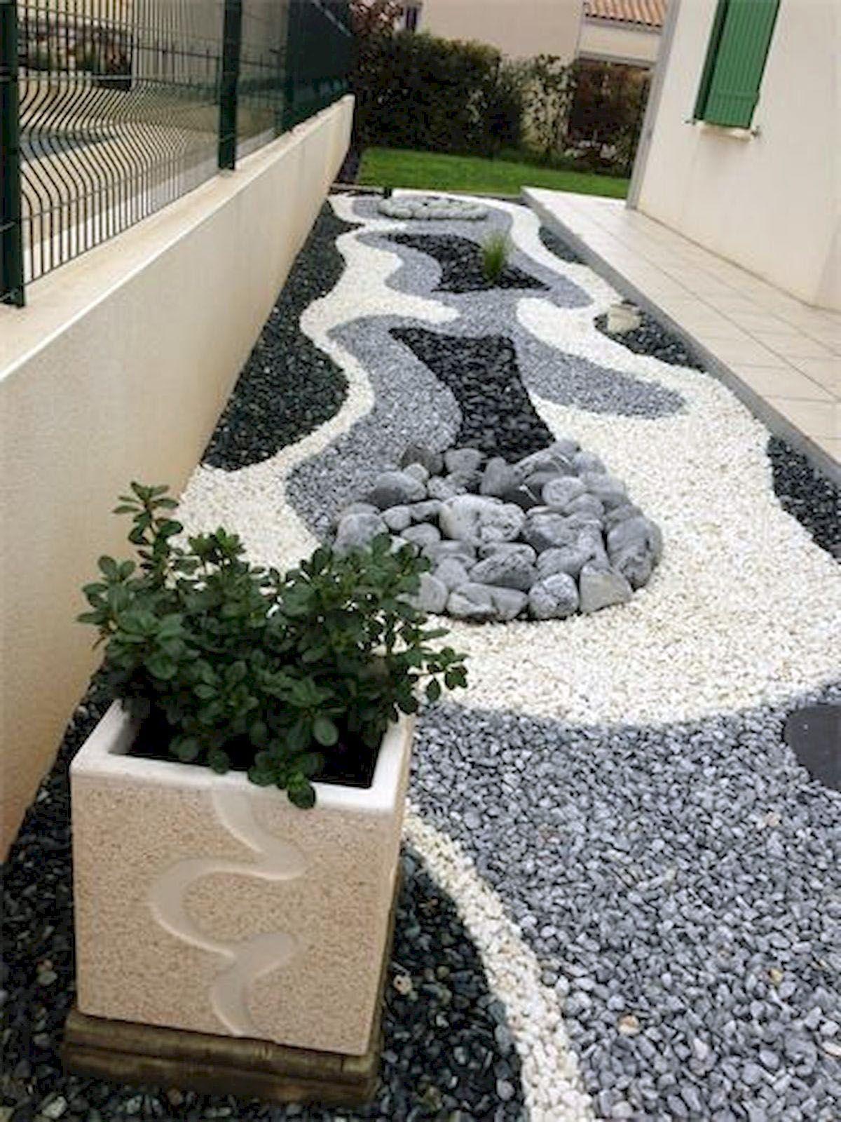 10 Diy Small Backyard Ideas That Make A Big Statement Rock Garden Landscaping Gravel Landscaping Front Yard Landscaping