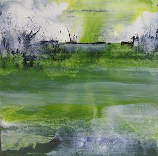 """""""Landscape 4""""  Acrylique sur toile, 30 x 30 cm   Sandrinealatelier.blogspot.fr"""