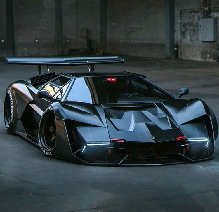 Lamborghini Countach Rendering Cartoons Concepts Renderings