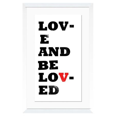 I pinned this Love & Be Loved Wall Art from the Word for Word event at Joss and Main!