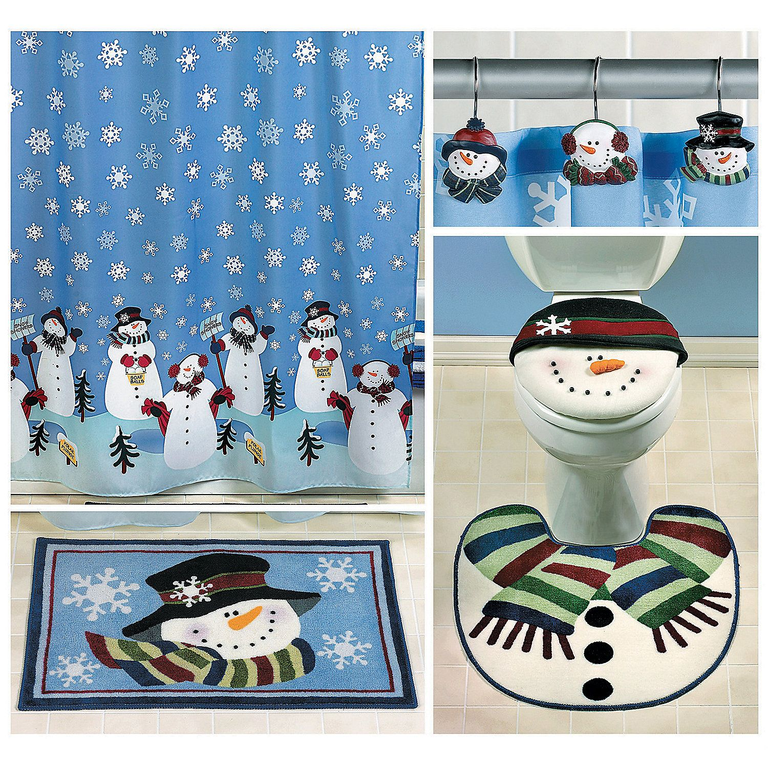 Snowman Bathroom Sets Snowmen Bath Collection 54 96 Value Orientaltrading