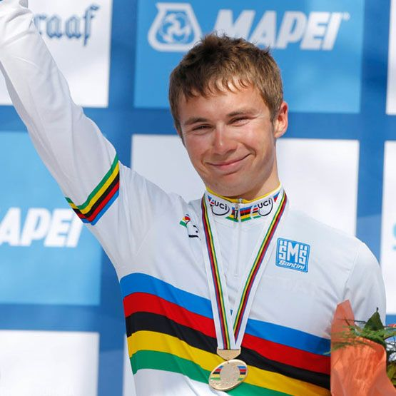 Lutsenko Wins First Road Rainbow Jersey for Kazakhstan