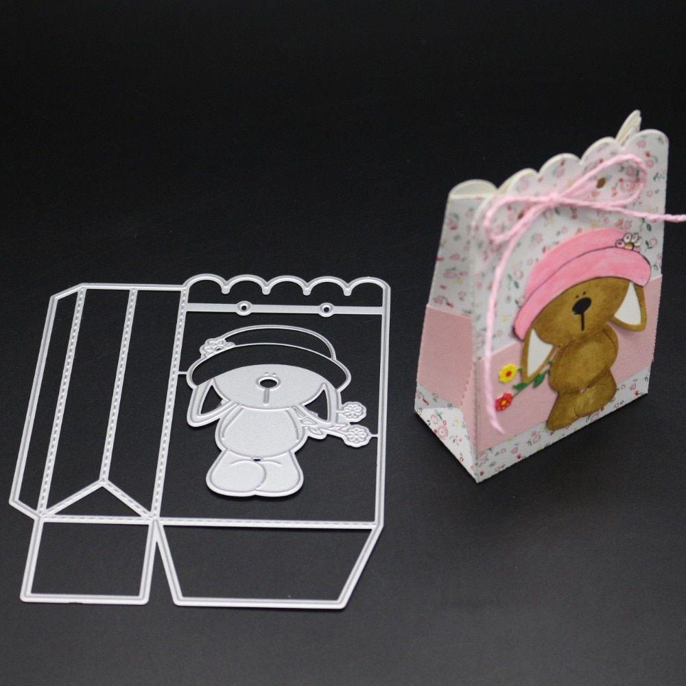 3D Marco de tarjeta de saludo de Puerta de Metal Corte muere Stencil Scrapbook Gofrado Craft