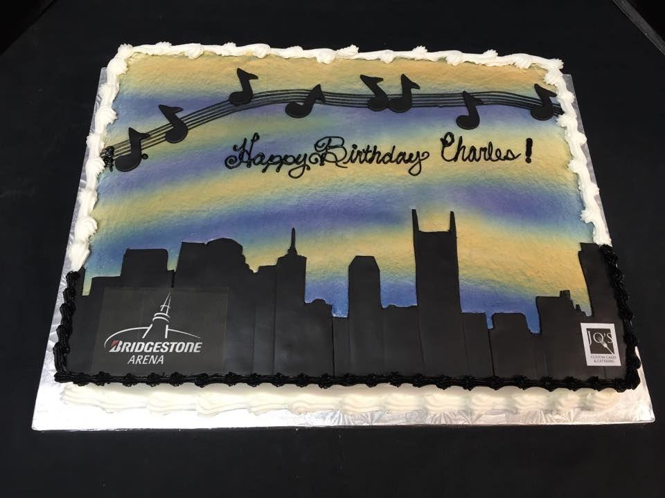 Nashville Skyline Airbrushed Music City Cake Bridgestonearena Notes Birthday