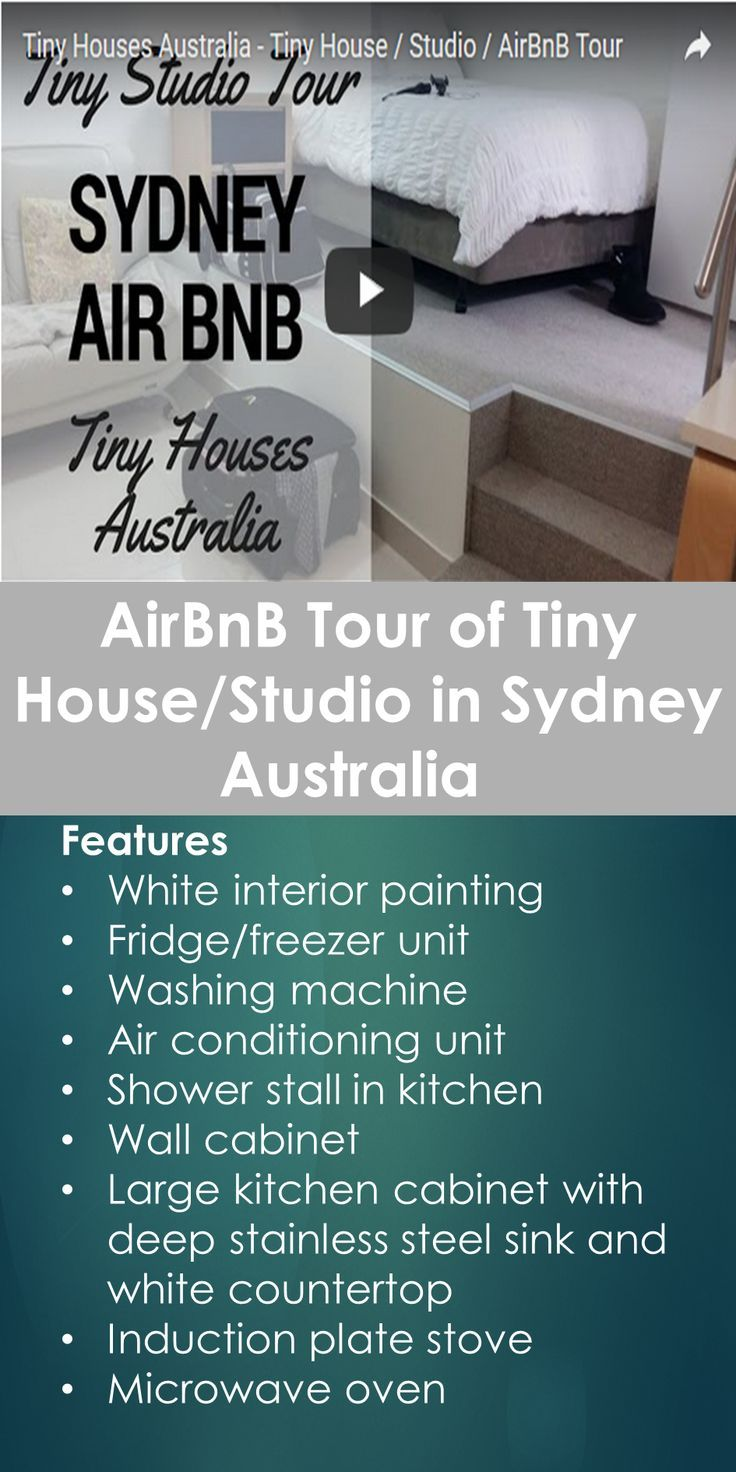 Airbnb Tour Of Tiny House Studio In Sydney Australia