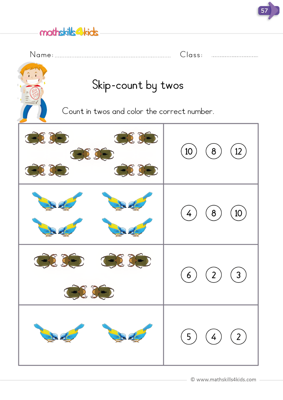 45+ Skip counting worksheets pdf Online