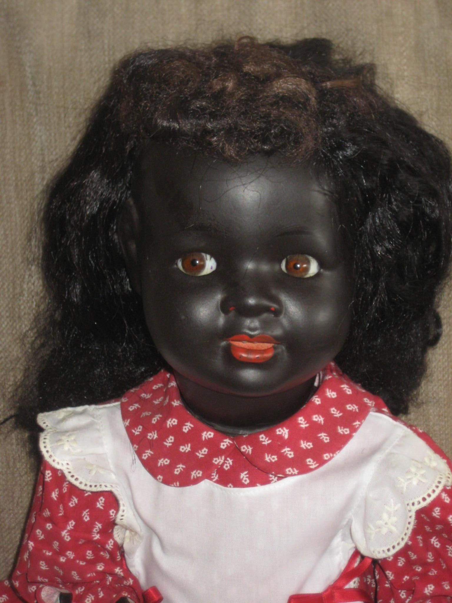 Black Doll 134 With Flirty Eyes 19 Inch By Kws Black Doll Vintage Dolls Antique Dolls