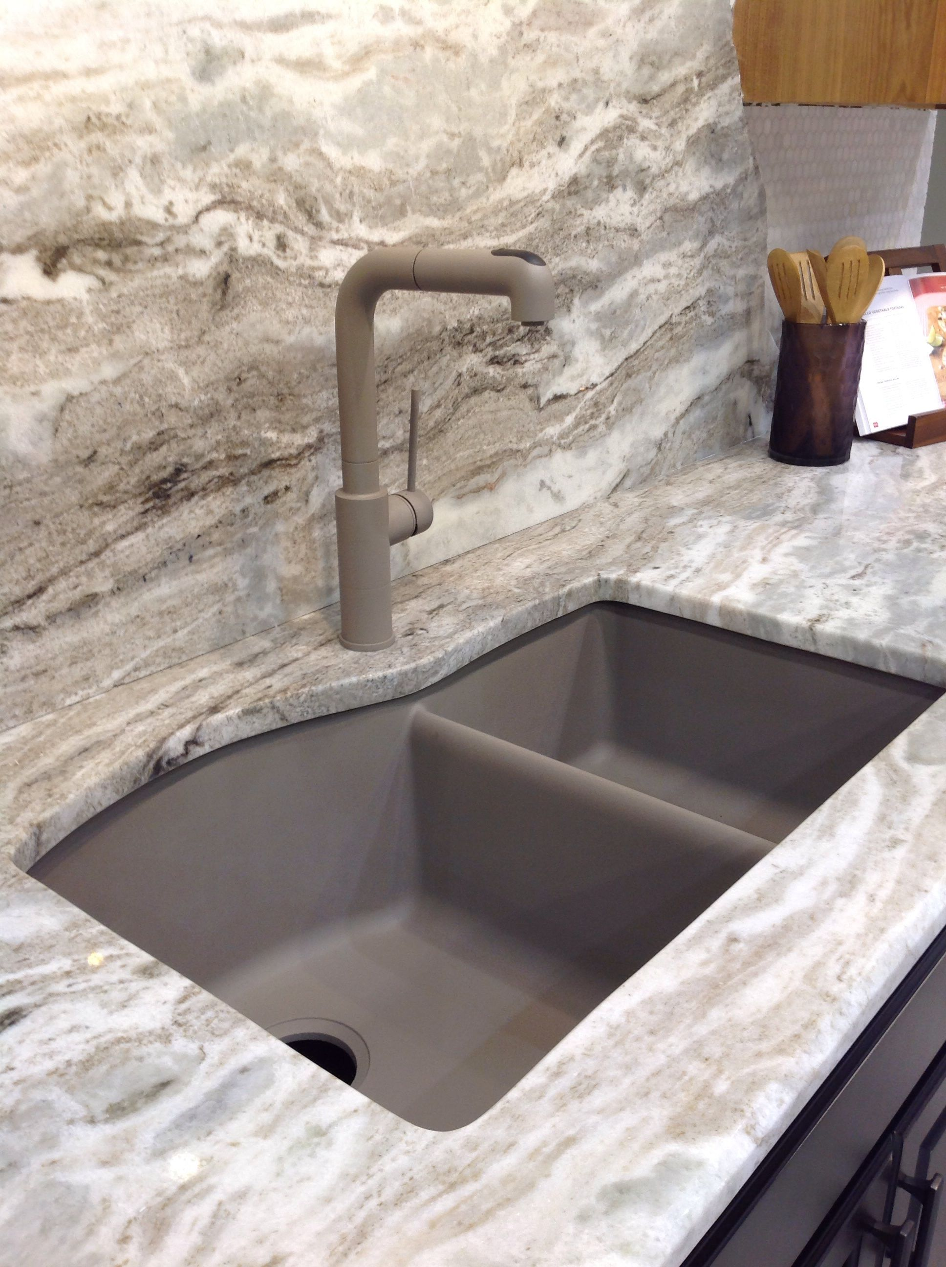 Moscavo granite with Blanco posite sink by Chippewa Stone