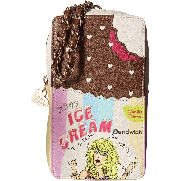 Betsey Johnson Kitch Ice Cream Wristlet (Multi) Wristlet Handbags (£19) ❤ liked on Polyvore featuring bags, handbags and clutches