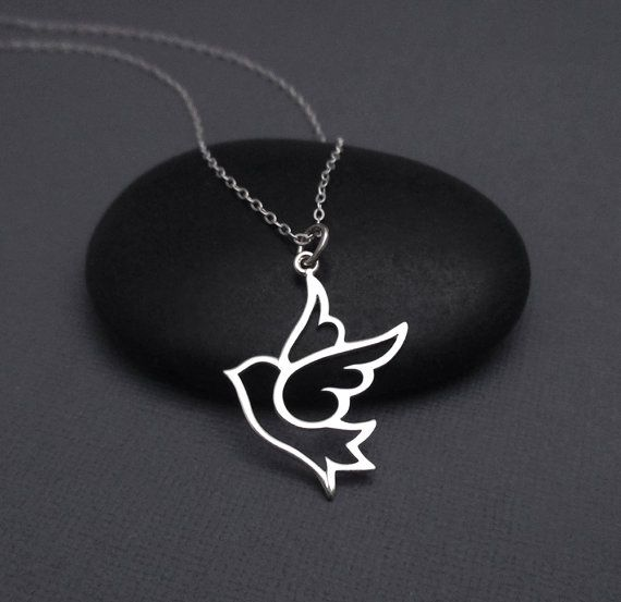 Simple but beautiful necklace featuring a sterling silver dove simple but beautiful necklace featuring a sterling silver dove pendant on a sterling silver chain mozeypictures Image collections