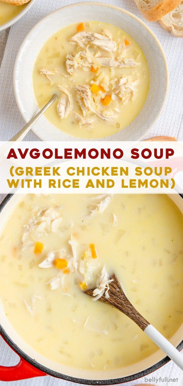 Photo of Avgolemono Soup (Greek Lemon Chicken Soup) – Belly Full