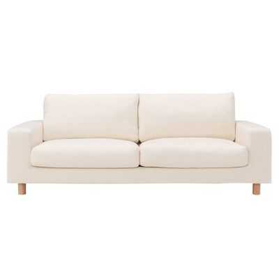 Muji Wide Arm Down Sofa. Best Loveseat Or Small Sofa For Tiny Spaces. Where
