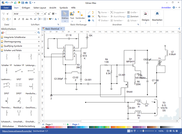 schematische Darstellung Software | Elektrische Schaltpläne ...