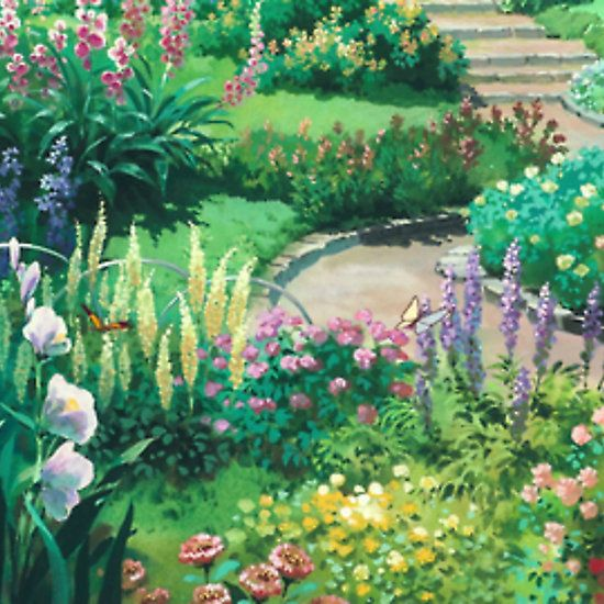 Studio Ghibli Flowers Garden