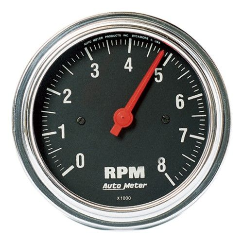 Autometer 2499 Traditional Chrome In Dash Electric Tachometer Tachometer Electricity Chrome