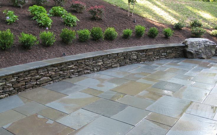 Superior Flagstone Patio Seating Bench Retaining Wall