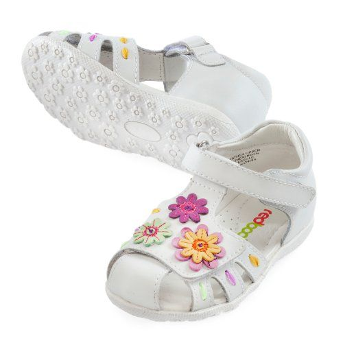 Red Bootie - Hannah - White Multi Flowers
