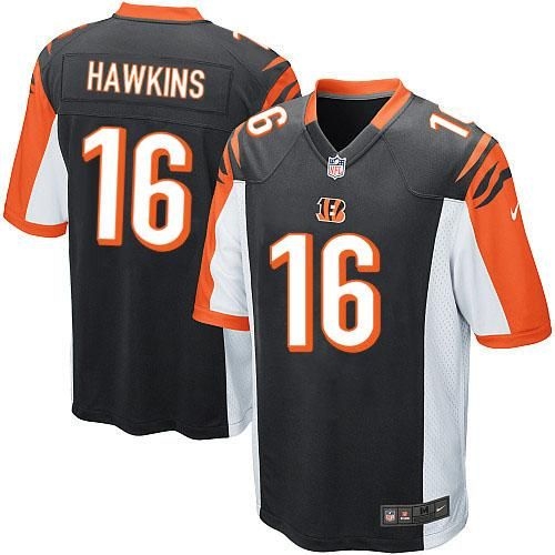 nike nfl cincinnati bengals 16 andrew hawkins limited youth black team color jersey sale