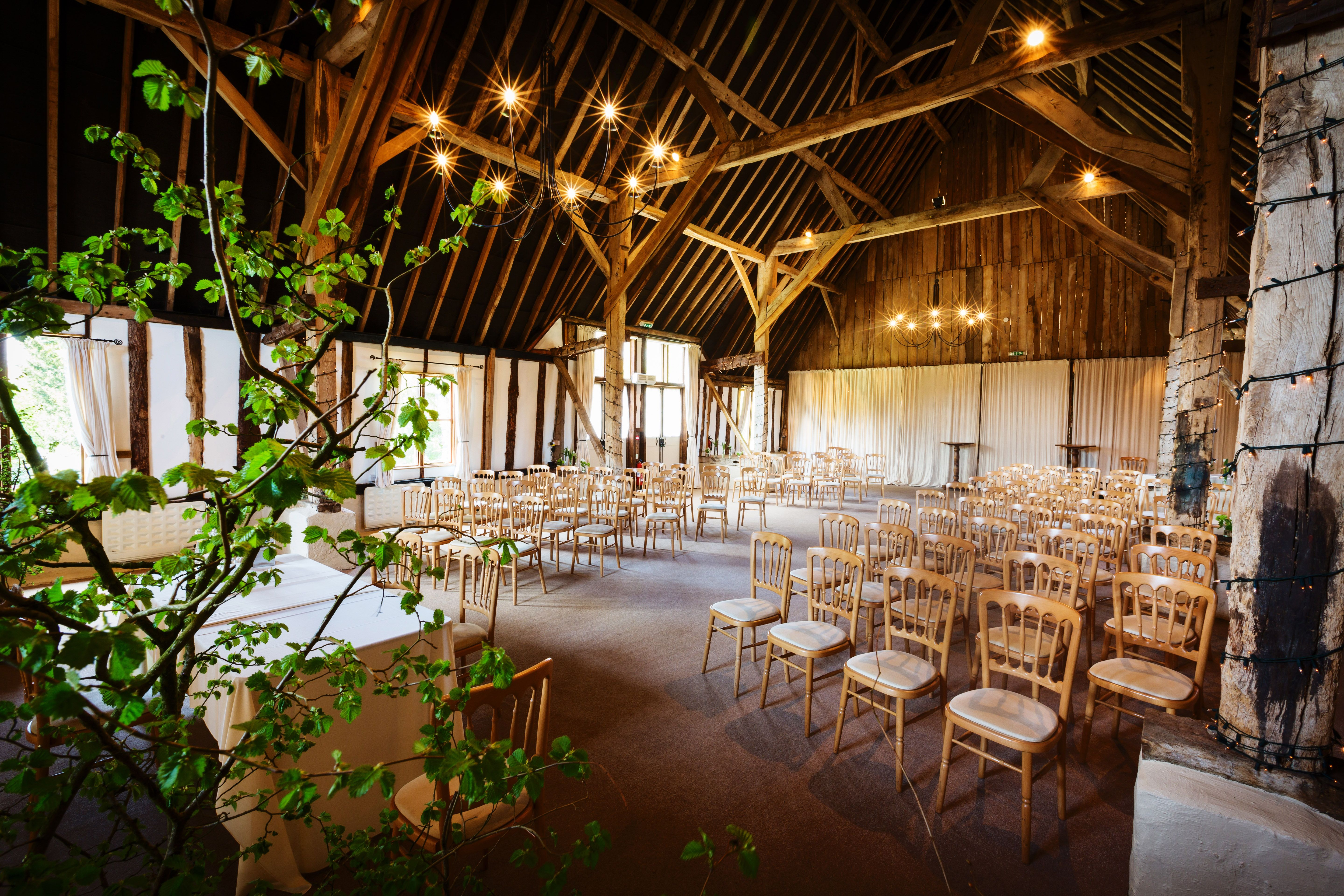 Gorgeous Civil Ceremony At Clock Barn Hampshire Seating Up To 192