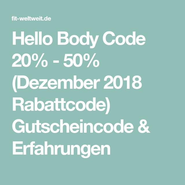 gutscheincode hello body