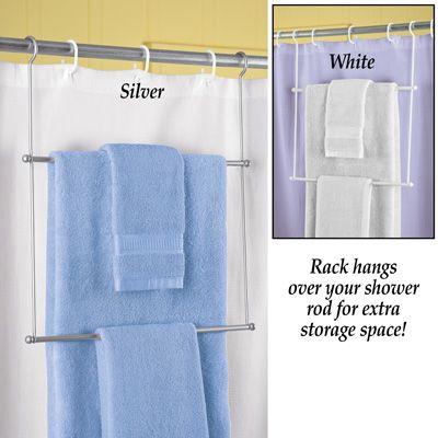 Instant Hanging Shower Rod Towel Rack With Images Shower Rod