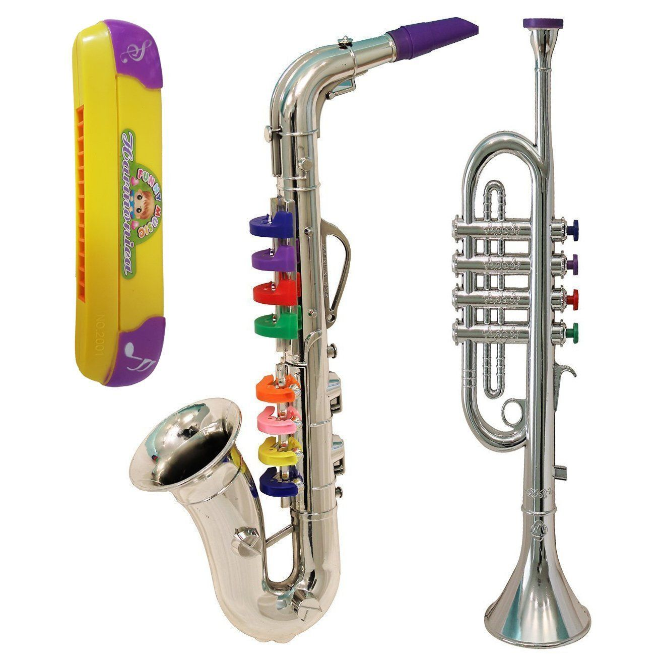 Amazon Com Kid Musical Instruments Toy Trumpet Saxophone