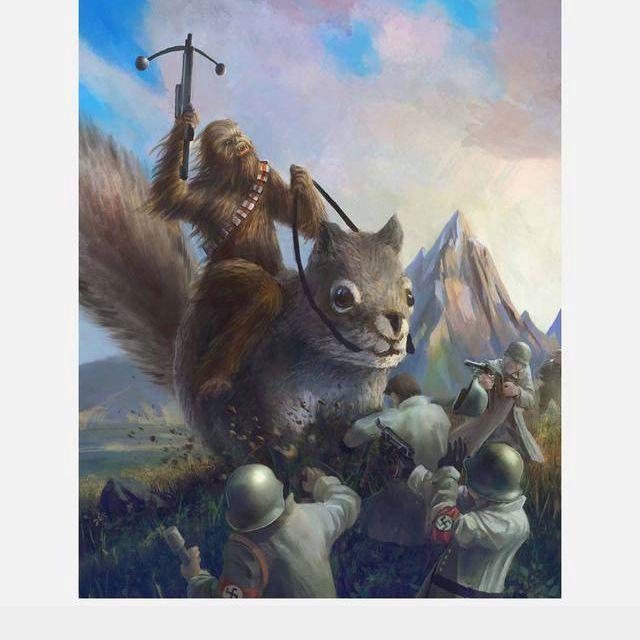 Lmao chewbaca riding a squirrel #lol wtf funny shit