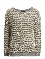 Selected Femme Sakira Ls Knit Pullover F (White Asparagus) - Køb og shop online hos Boozt.com
