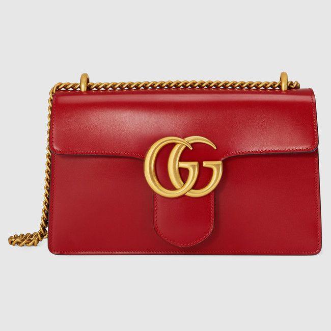 Sac à épaule GG Marmont en cuir   Gucci collections   Pinterest ... 4ee31af9228
