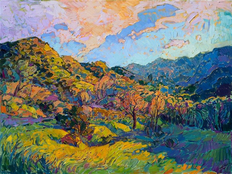 Early California Style Of Painting In Contemporary Impressionism By Erin Southwestern Art Southwest Painting California Art