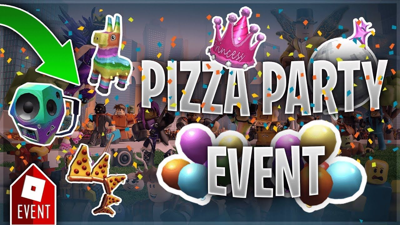 How To Get All New Event Items Guide Roblox Pizza Party 2019