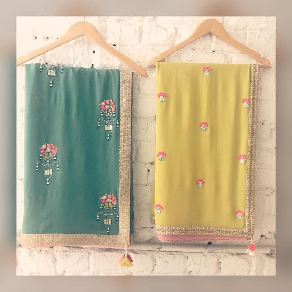 Mirror Work Sarees Stunning Designer Saree With Flower Design