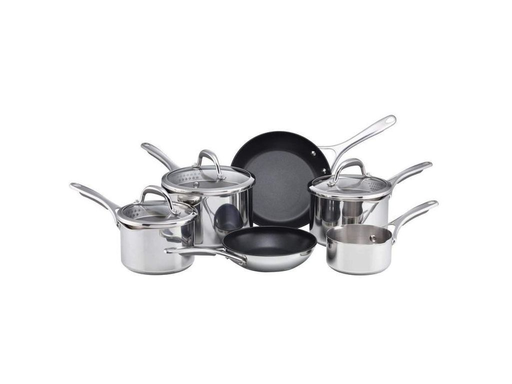 Meyer Select 6 Piece Pan Set With Glass Straining Lids Cookware