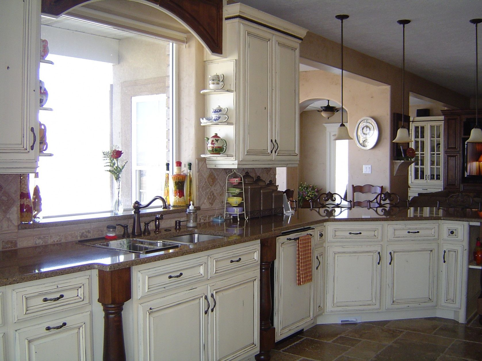 55+ White French Country Kitchen Cabinets  Kitchen Cabinets Countertops