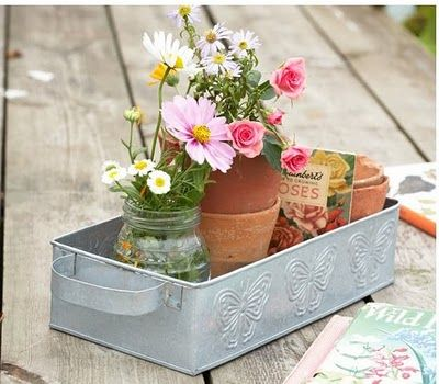 Put some flowers on your garden table
