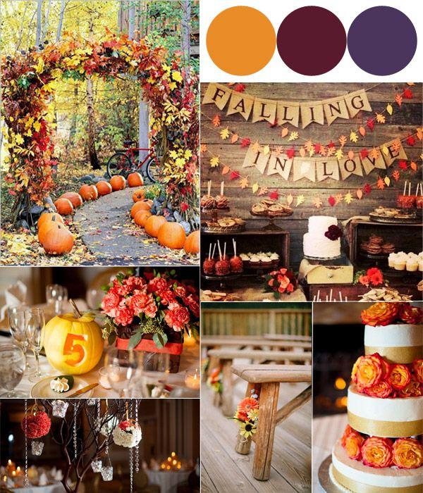 Fall Wedding Color Ideas: Hot Fall Wedding Colour Combinations 2014: Burgundy