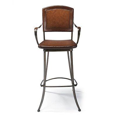 Beckett Bar Height Bar Stool Bar Stools Stool Leather Seat