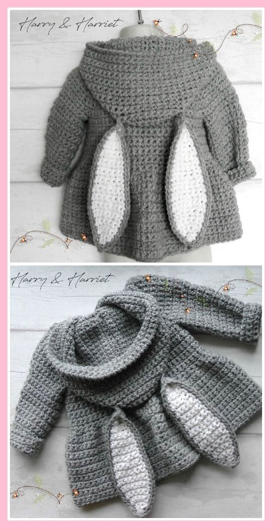 Floppy Bunny Ears Crochet Pattern mit Video-Tutorial ,  #bunny #crochet #floppy #pattern #tut... #vestidosparabebédeganchillo