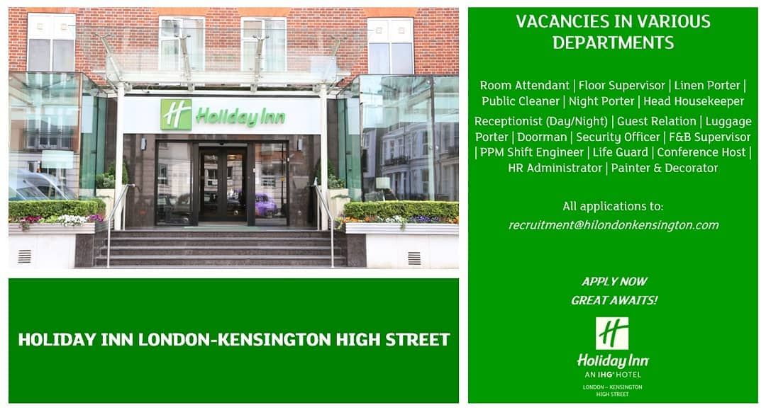 Join our team! Please email your CV to our Recruitment