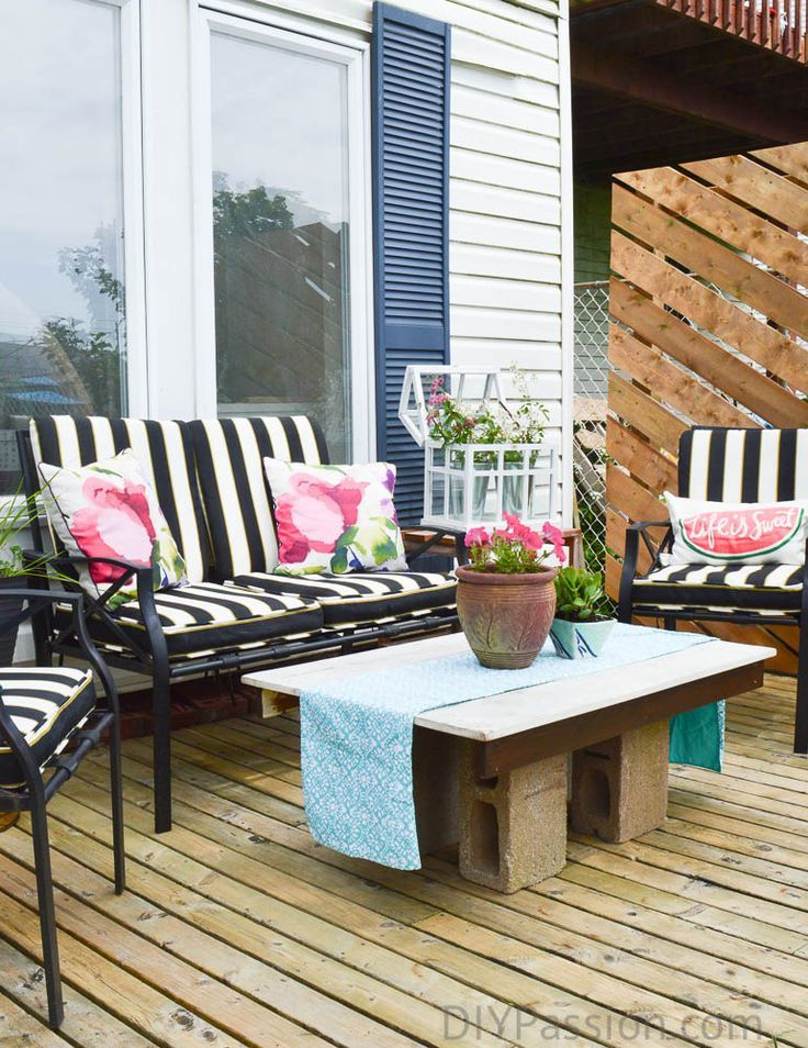 All the diy details on our budget patio makeover patio