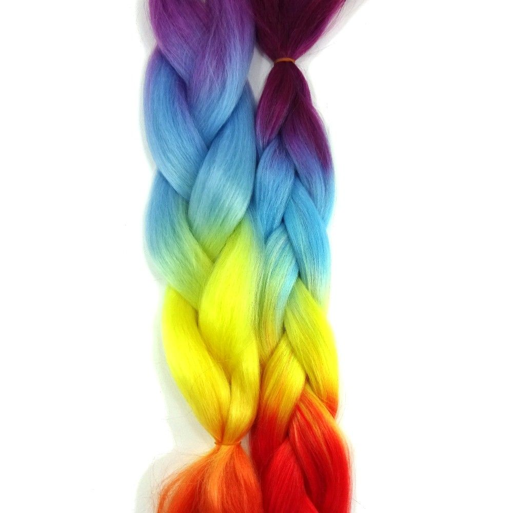 Color chart rainbow - Multicolored Kanekalon Color Chart At I Kick Shins