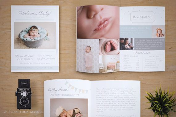 Newborn Photography Magazine Template - Photography Marketing ...