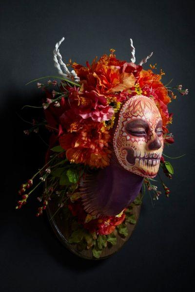 Esculturas de Caveira Mexicana por Krisztianna Muertita