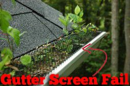 This Diy Gutter Screen Is Not Protecting Your Home From Seeds That Fall Through The Gaps And Grow Into Tre Gutter Guard How To Install Gutters Cleaning Gutters