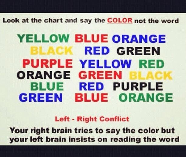Quickly Say The Color Not The Word Funny Mind Tricks Mind Tricks Mind Reading Tricks